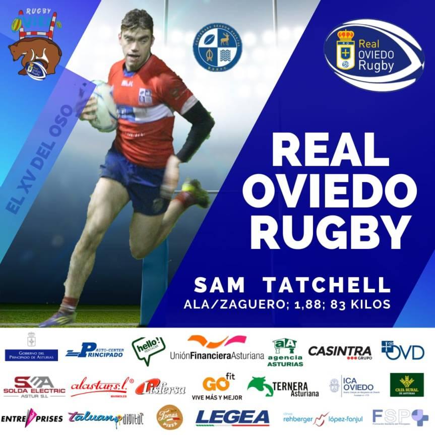 Sam Tatchell nuevo jugador del Real OviedoRugby
